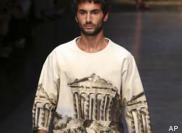 Un modello Dolce e Gabbana