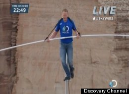 'Skywire': Nik Wallenda completes 1,500-foot high-wire walk across Grand Canyon