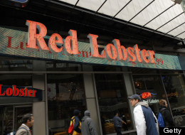The entrance to a Red Lobster restaurant in New York.