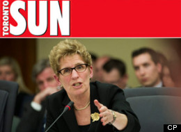 Kathleen Wynne, the first openly gay premier in Canada, may have been on the receiving end of a questionable dig about her sexuality from a Toronto Sun columnist on Monday. (CP)