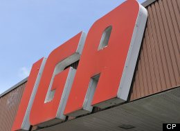 A photograph of an IGA grocery store sign taken in Montreal, Quebec, on July 23, 2012. (The Canadian Press Images/Denis Beaumont)
