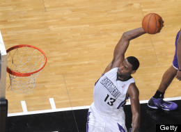 SACRAMENTO, CA - NOVEMBER 21: Tyreke Evans #13 of the Sacramento Kings goes up for the dunk against the Los Angeles Lakers on November 21, 2012 at Sleep Train Arena in Sacramento, California. NOTE TO USER: User expressly acknowledges and agrees that, by downloading and or using this photograph, User is consenting to the terms and conditions of the Getty Images Agreement. Mandatory Copyright Notice: Copyright 2012 NBAE (Photo by Rocky Widner/NBAE via Getty Images)