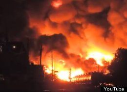 The Lac-Megantic explosion, as recorded by an eyewitness. YOUTUBE