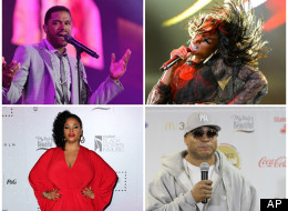 (Clockwise) Maxwell, Brandy, LL Cool J, Jill Scott all performed live on the first night of Essence Music Festival