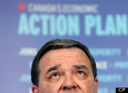 Finance Minister Jim Flaherty was told in a presentation by his department last fall that Canada's middle class is falling behind other groups on wage growth. (THE CANADIAN PRESS/ Fred Chartrand)