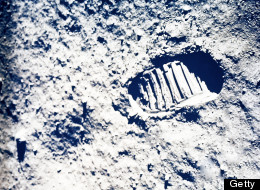 In this July 20, 1969 file photo, a footprint left by one of the astronauts of the Apollo 11 mission shows in the soft, powder surface of the moon.