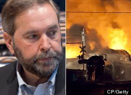 Federal Opposition Leader Tom Mulcair criticized previous governments for allowing rail companies to police their own safety and called on Ottawa to take a more active role in doing that job. (CP)