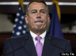 UNITED STATES - JUNE 27: Speaker of the House John Boehner, R-Ohio, speaks during his weekly on camera news conference in the Capitol on Thursday, June 27, 2013. (Photo By Bill Clark/CQ Roll Call)