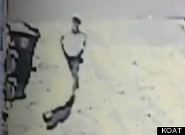 Shot from the security camera footage of the woman
