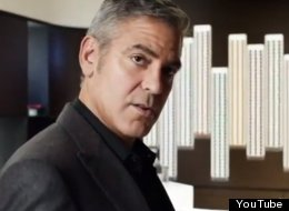 George Clooney in a Nespresso commercial.