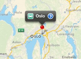 A screenshot of Apple's Maps app on an iPhone 4S shows Oslo, the capital city of Norway. The Norwegian government is reportedly blocking Apple from 3D mapping the city. (Photo via Apple Maps)
