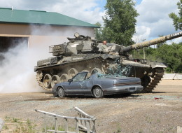 The 60-ton Chieftain is capable of pulverizing anything lying in its path.