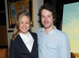 Actors Brie Larson and John Gallagher Jr. attend the