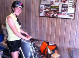 Chicago cyclist Jana Kinsman was attacked Tuesday in Logan Square by men in an SUV. (Bike A Bee)