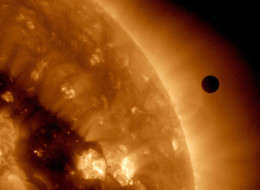 An ultra-high definition image of the Transit of Venus across the face of the sun