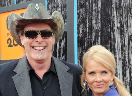 NASHVILLE, TN - JUNE 16:  Musician Ted Nugent and wife Shemane Nugent attend the 2009 CMT Music Awards at the Sommet Center on June 16, 2009 in Nashville, Tennessee.  (Photo by Rick Diamond/Getty Images)