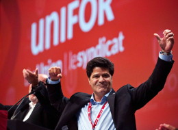 Jerry Dias, a veteran of the Canadian Auto Workers, is the first president of the new Unifor union. (THE CANADIAN PRESS/Galit Rodan)