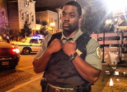 Actor LaRoyce Hawkins (Officer Atwater) on set of NBC's new Chicago cop drama,
