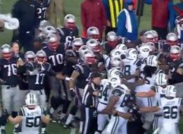 Jets, Patriots cap ugly game with ugly scuffle.
