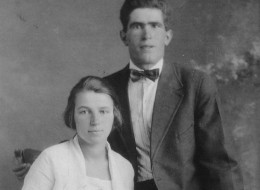 Yuri Forchuk (right) and his wife Anya pose for a wedding photo in 1923. Five years earlier Yuri Forchuk escaped from a First World War Internment camp in Jasper, Alta. An exhibit marking the internment program opened in September, 2013. (THE CANADIAN PRESS/ho-photo courtesy of Marsha Forchuk Skrypuch)
