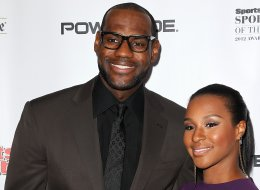 LeBron James and Savannah Brinson attend the Sports Illustrated's