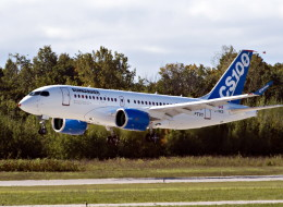 Bombardier's C-Series100 takes off on its maiden test flight at the company's facility Monday, September 16, 2013 in Mirabel, Que. THE CANADIAN PRESS/Ryan Remiorz