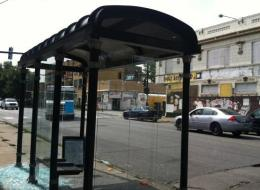 The Washington Park CTA bus stop where Billy Sergent was gunned down Tuesday morning. (Tanveer Ali/DNAinfo)