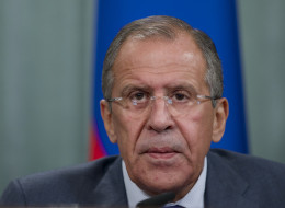Russian Foreign Minister Sergey Lavrov speaks during a news conference after his meeting with French counterpart Laurent Fabius, unseen, in Moscow, Russia, on Tuesday, Sept. 17, 2013. (AP Photo/Ivan Sekretarev)