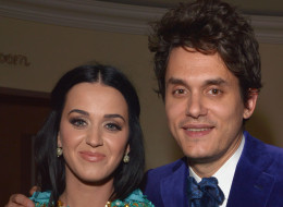 Katy Perry listens to Drake with John Mayer.