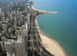 No injuries were reported early Sunday when a small plane made an emergency landing on Chicago's Lake Shore Drive.