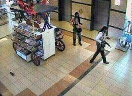 Purportedly CCTV from inside Westgate Mall in Kenya and allegedly showing two terrorist gunmen Shopping Mall Terror Attack, Nairobi, Kenya - Sep 2013