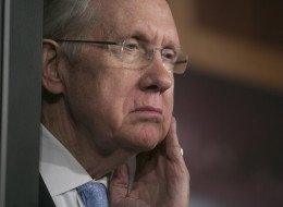 Senate Majority Leader Harry Reid listens during a news conference in Washington on Sept. 26, 2013. (Andrew Harrer/Bloomberg via Getty Images)