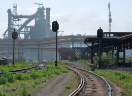 The couple were reportedly struck by a train in Zaporozhye, Ukraine