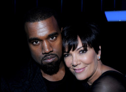 HOLLYWOOD, CA - NOVEMBER 21: (L-R) Kanye West and Kris Jenner backstage at FOX's 'The X Factor' Season 2 Top 10 Live Performance Show on November 21, 2012 in Hollywood, California. (Photo by FOX via Getty Images)