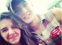 Shooting victim Wyatt Carrender (right) with his girlfriend, Sabrina Canfield (left)