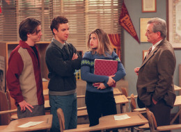 BOY MEETS WORLD - Now that they are in their  senior year, Cory and Shawn figure they no longer have to turn in  homework. But their new assignment from Feeny is more challenging- -to find tickets for the Super Bowl. Meanwhile, Eric ends up with  a date who would be more compatible with Jack; and Jack's new  girlfriend would be a better match for Eric, on Boy Meets World. (Photo by Scott Humbert/ABC via Getty Images)   RYDER STRONG, BEN SAVAGE, DANIELLE FISHEL, WILLIAM  DANIELS