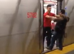 A video of a man holding up a TTC subway has gone viral.