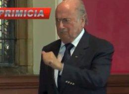 Joseph Blatter se burló de Cristiano Ronaldo en la Universidad de Oxford