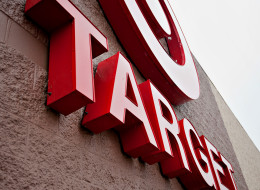 Rain falls on the Target Corp. logo displayed outside of a store in Peru, Illinois, U.S., on Thursday, Feb. 7, 2013. (Daniel Acker/Bloomberg via Getty Images