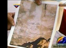 El presidente de Venezuela, Nicolás Maduro, aseguró que el rostro del fallecido Hugo Chávez se apareció en una de las paredes rocosas durante una excavación en el Metro de Caracas.