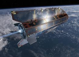 Undated artists impression of the Gravity field and steady-state Ocean Circulation Explorer (GOCE) satellite which is planned to lift off from Plesetsk on March 16, 2009. GOCE is dedicated to measuring Earth's gravity field and modelling the geoid with unprecedented accuracy and spatial resolution. Data from this advanced gravity mission will improve our knowledge of ocean circulation, which plays a crucial role in energy exchanges around the globe, sea-level change and Earth-interior processes.