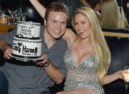 Heidi Montag undergoes breast augmentation surgery. Here, she poses with her husband, Spencer Pratt.