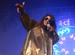 NEW YORK, NY - NOVEMBER 01:  M.I.A. performs in celebration of her new album 'Matangi' at Terminal 5 on November 1, 2013 in New York City.  (Photo by Taylor Hill/Getty Images)