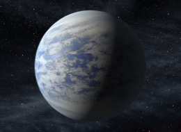 This artist's rendition provided by NASA shows Kepler-69c, a super-Earth-size planet in the habitable zone of a star like our sun, located about 2,700 light-years from Earth in the constellation Cygnus. (AP Photo/NASA/Ames/JPL-Caltech)