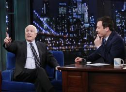Sen. John McCain (R-Ariz.) appeared on 'Late Night with Jimmy Fallon' on Monday. (Lloyd Bishop/NBC/NBCU Photo Bank via Getty Images)