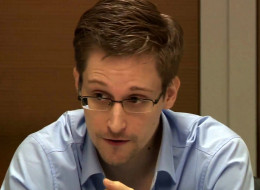NSA whistleblower Edward Snowden during a meeting with German Green Party MP Hans-Christian Stroebele (not pictured) regarding being a witness for a possible investigation into NSA spying in Germany, on October 31, 2013 in Moscow, Russia. (Photo by Sunshinepress/Getty Images)