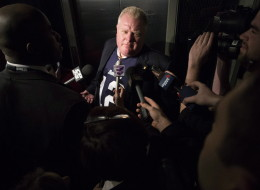 Toronto Mayor Rob Ford admitted that he may have driven after drinking alcohol, says he plans to sue four police witnesses, and stunned reporters with sexually explicit language on Thursday. (CP)