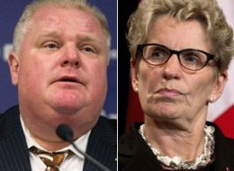 Kathleen Wynne Ontario's premier appears to be bypassing Rob Ford as she coordinates recovery efforts with  municipalities affected by the storm. (CP)