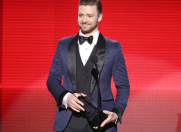 LOS ANGELES, CA - NOVEMBER 24:  Justin Timberlake speaks onstage at the 2013 American Music Awards held at Nokia Theatre L.A. Live on November 24, 2013 in Los Angeles, California.  (Photo by Michael Tran/FilmMagic)