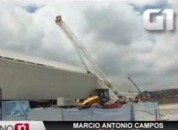 En un video se puede apreciar la tragedia en la Arena Corinthians
